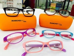 Marchon Kids Glasses with Orange Cases